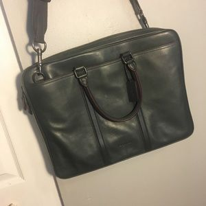 Never Used COACH Briefcase (Graphite/Oxblood)